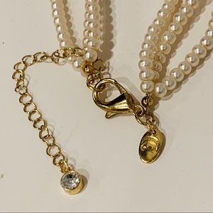Charming Charlie Jewelry - Charming Charlie Faux Pearl and Crystal Necklace